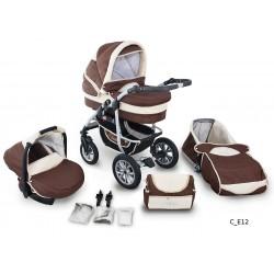 Coral wózek dziecięcy wielofunkcyjny Krasnal 3w1 brązowy