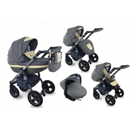 I-XEO wózek dziecięcy Krasnal wielofunkcyjny 3w1 kremowy