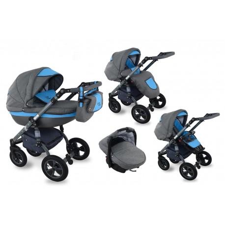 I-XEO wózek dziecięcy Krasnal wielofunkcyjny 3w1 niebieski