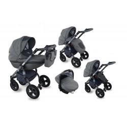 I-XEO wózek dziecięcy Krasnal wielofunkcyjny 3w1 grafitowy