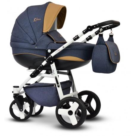 Wózek dziecięcy Cosmo Len jeans Vega gondola+stelaż