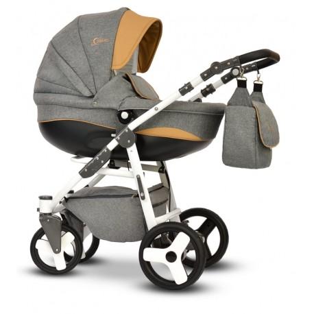 Wózek dziecięcy Cosmo Len szary Vega gondola+stelaż