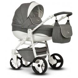 Wózek dziecięcy Cosmo Len Vega 3w1 szaro biały