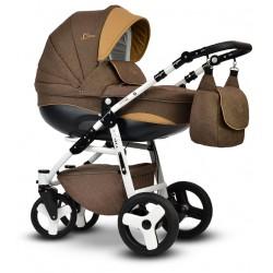 Wózek dziecięcy Cosmo Len Vega 3w1 brązowy