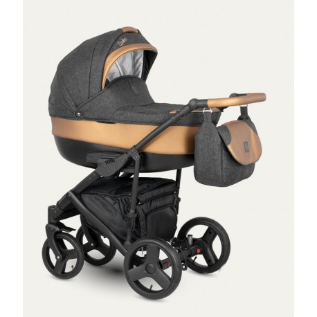 NOWOŚĆ !Baleo Camarelo wózek dziecięcy wielofunkcyjny 3w1 miedziany.