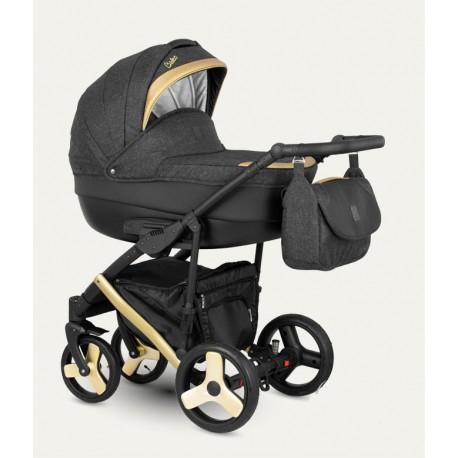 NOWOŚĆ !Baleo Camarelo wózek dziecięcy wielofunkcyjny 3w1 złoty.