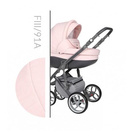 Wózek dziecięcy Faster 3 Style Baby Merc wielofunkcyjny różowy na szarej ramie 3w1