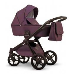 Fioletowy wózek dziecięcy wielofunkcyjny Emotion XT w wersji eco Lonex zestaw 3w1