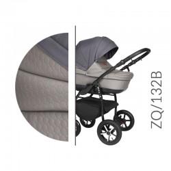 Baby Merc ZipyQ  3w1 wózek dziecięcy wielofunkcyjny szaro grafitowy