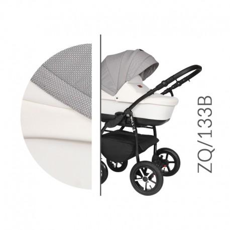 Baby Merc ZipyQ  3w1 wózek dziecięcy wielofunkcyjny biało szary