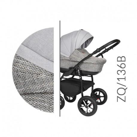 Baby Merc ZipyQ  3w1 wózek dziecięcy wielofunkcyjny szaro popielaty