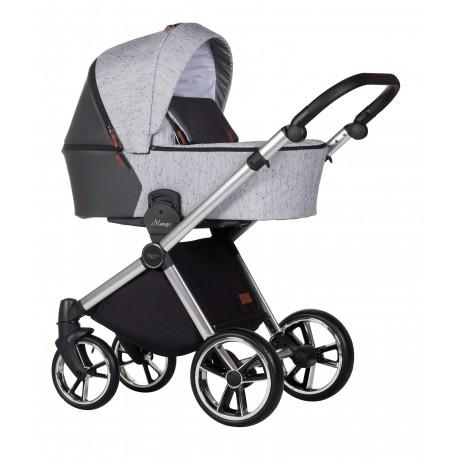 Baby Merc Mango Limited wózek dziecięcy 3w1 szary na srebrnej ramie