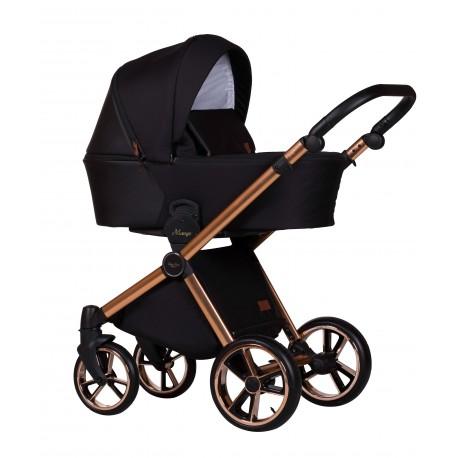 Baby Merc Mango Limited wózek dziecięcy 3w1 czarny na miedzianej ramie