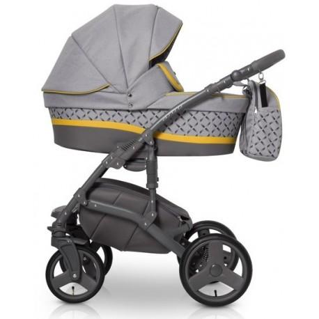 Expander Astro wózek dziecięcy wielofunkcyjny 3w1 szaro - żółty
