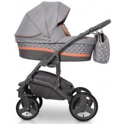 Expander Astro wózek dziecięcy wielofunkcyjny 3w1 szaro pomarańczowy
