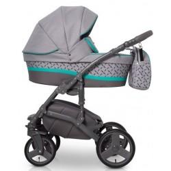 Expander Astro wózek dziecięcy wielofunkcyjny 3w1 szaro zielony