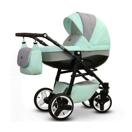 Karo Vega wózek dziecięcy wielofunkcyjny mietowo szary gondola + stelaż