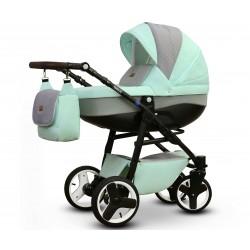 Karo Vega wózek dziecięcy wielofunkcyjny miętowo szary gondola + stelaż