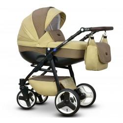 Karo Vega wózek dziecięcy wielofunkcyjny beżowo brązowy gondola + stelaż