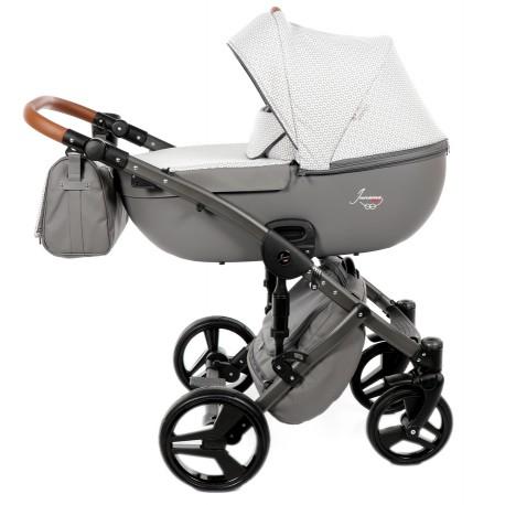 Junama Madena wózek dziecięcy wielofunkcyjny 2w1 jasno szary