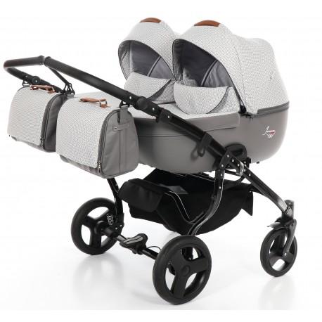 Junama Madena Duo wózek dziecięcy bliźniaczy 4w1 (z bazą isofix)