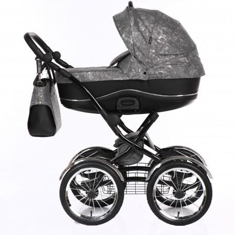 Tako klasyczny wózek dziecięcy Bella Donna 2w1 Sebrny