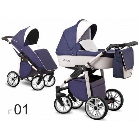 Lonex First wózek dziecięcy 2w1 niebieski 01