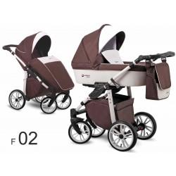 Lonex First wózek dziecięcy 2w1 brązowy