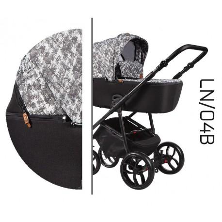 Wielofunkcyjny wózek dziecięcy La Noche Baby Merc 4w1 szary biały