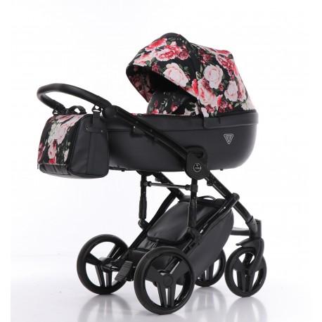 Junama Madena Tineo  wózek dziecięcy wielofunkcyjny 4w1 kolor 06 w kwiaty