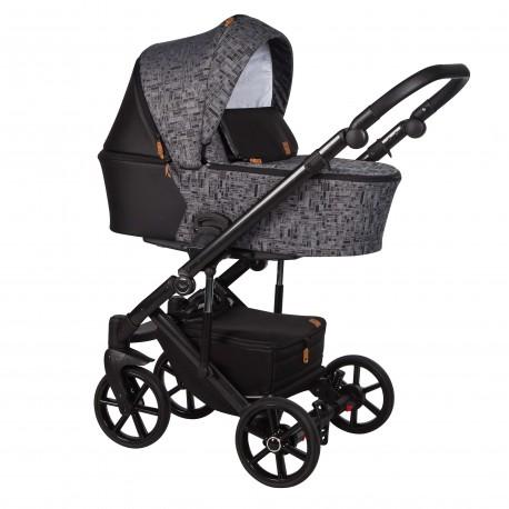 Wózek dziecięcy wielofunkcyjny Mosca Baby Merc 2w1 grafit wzór