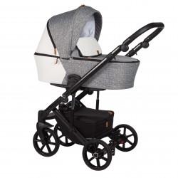 Wózek dziecięcy wielofunkcyjny Mosca Baby Merc 2w1 szary wzór