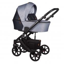 Wózek dziecięcy wielofunkcyjny Mosca Baby Merc 2w1 srebrny