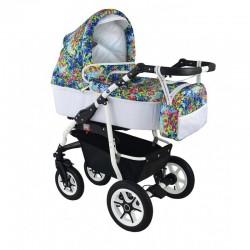 Wózek dziecięcy wielofunkcyjny Angel Krasnal 2w1 różowy