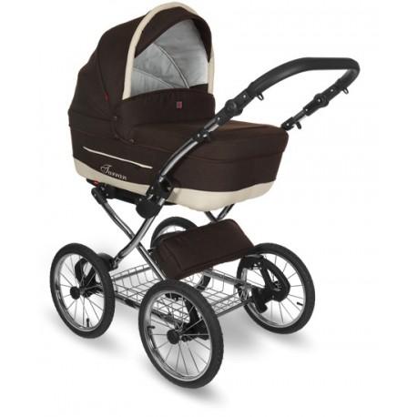 Wózek dziecięcy Turran Silver Tutek 3w1 czarny z białym