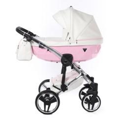 Wózek dziecięcy wielofunkcyjny JUNAMA CANDY  3w1  różowy