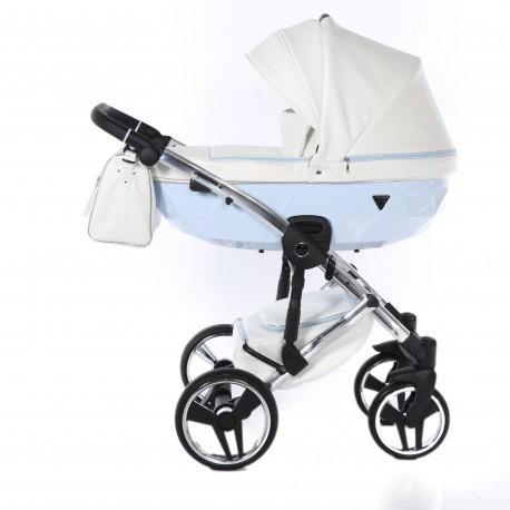Wózek dziecięcy wielofunkcyjny JUNAMA CANDY 3w1 błękitny
