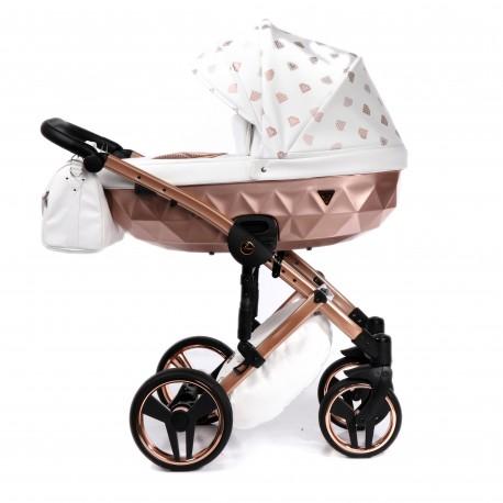 Wózek dziecięcy wielofunkcyjny JUNAMA GLOW 3w1 miedziany