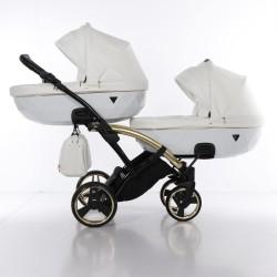 JUNAMA INDIVIDUAL DUO SLIM  wózek bliźniaczy 3w1 biały