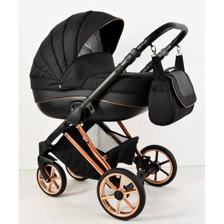 Wózek dziecięcy Princess 3w1 Czarno-miedziany Nowość!