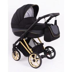 Wózek dziecięcy Princess 4w1 z bazą isofix. Czarno-szary Nowość !