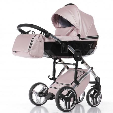 JUNAMA FLUO LINE wózek dzieięcy wielofunkcyjny 3w1 Różowy
