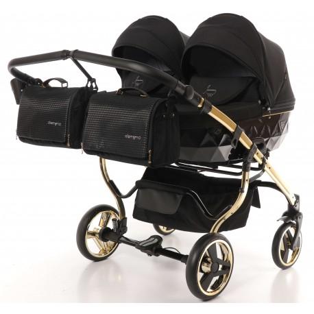 Wózek JUNAMA DIAMOND S LINE DUO  dziecięcy bliźniaczy 3w1