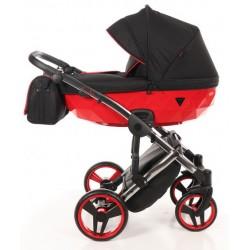 Wózek JUNAMA DIAMOND S LINE dziecięcy wielofunkcyjny 3w1 czerwony