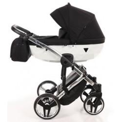 Wózek JUNAMA DIAMOND S LINE dziecięcy wielofunkcyjny 3w1 biały