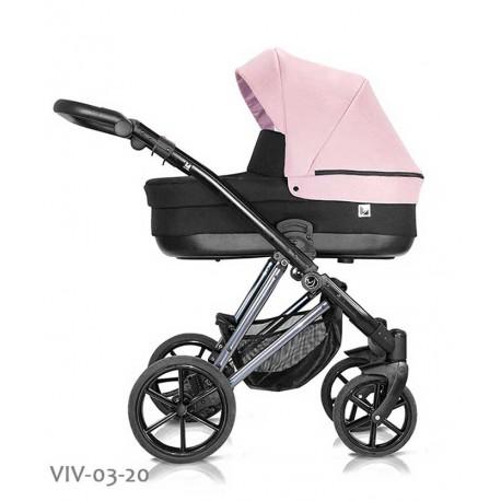 Wózek dziecięcy Vivaio Less Milu Kids 3w1 różowy