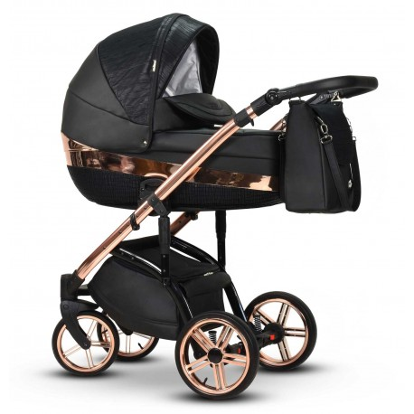 Stylowy wózek dziecięcy Monte Negro Wiejar 3w1