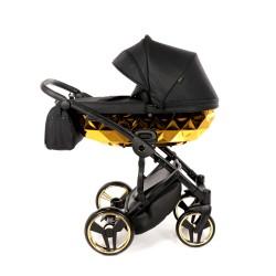 JUNAMA MIRROR Błysk wózek dziecięcy wielofunkcyjny 3w1 Złoty