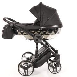 JUNAMA MIRROR Błysk wózek dziecięcy wielofunkcyjny 3w1 Srebrny