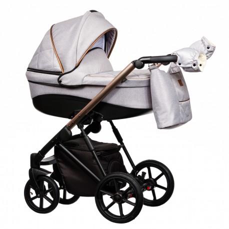 Wózek dziecięcy FX Paradise Baby 2w1 jasny szary